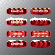Christmas web buttons set. winter web buttons Stock Illustration