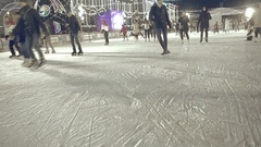 Ice Skating People Stock Footage