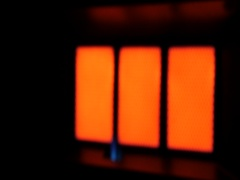 Warm of gas heater for room Stock Footage