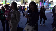 Melbourne, Federation Square, People Stock Footage