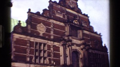 1983: the tower of a magnificent building with amazing architecture DENMARK Stock Footage