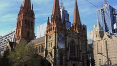 Melbourne, St Paul Cathedral Stock Footage