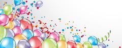Festive Balloons background Stock Illustration