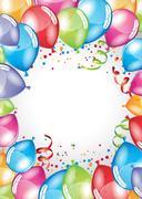 Festive Balloons card Stock Illustration