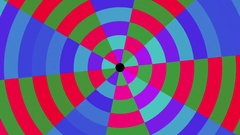 Rotating Circular Concentric Colorful Abstract Pattern VJ Motion Background Loop Stock Footage