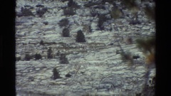 1981: a large piece of vacant land with some bushes. BRITISH COLUMBIA Stock Footage