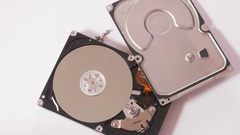 Hdd with cover Stock Footage