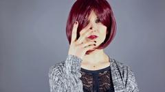 Fashion Model Showing Off Nair Polish Art Stock Footage