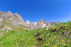 Valle del Vajolet in Dolomites,Italien Alps Stock Photos
