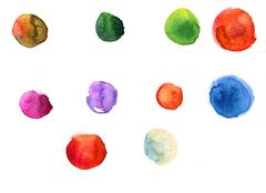Watercolor texture with splodges Stock Illustration