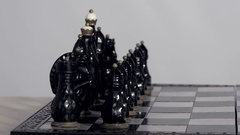 Chess pieces in initial position Stock Footage