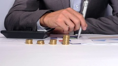 Thinking about financial matters Stock Footage