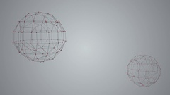 Polygonal structure, abstract geometry shape. Stock Footage