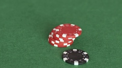 Stack of casino chips Stock Footage