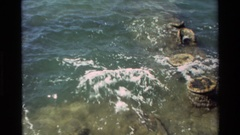 1981: recording from shore, of a body of water HAWAII Stock Footage