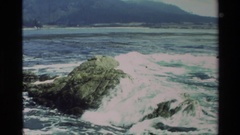 1982: powerful hit of the tide CARMEL CALIFORNIA Stock Footage