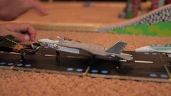 Toy flight line Stock Footage