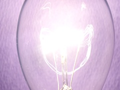 Close up of electricty concept of light bulb Stock Footage