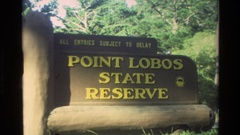 1982: sign: point lobos state reserve CARMEL CALIFORNIA Stock Footage