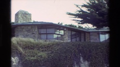 1982: building at the hill station,nature look CARMEL CALIFORNIA Stock Footage