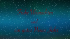 Northern lights Holiday Greeting in German Stock Footage