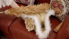 Tricorn hat cleaning careful Stock Footage