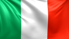 Flag of Italy. Seamless looped video, footage Stock Footage