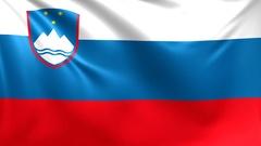 Flag of Slovenia. Seamless looped video, footage Stock Footage