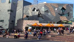 Melbourne, Federation Square, People ,Tourists, Stock Footage