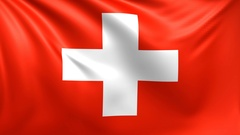 Flag of Switzerland. Seamless looped video, footage Stock Footage