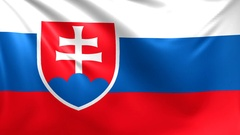 Flag of Slovakia. Seamless looped video, footage Stock Footage