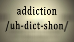 Definition: Addiction Stock Footage