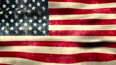The American flag blows in the wind - Old Glory 0102 HD, 4K Stock Video Stock Footage