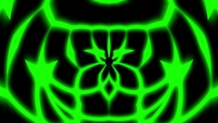 Green Glowing Symmetry Curves Lines Abstract Pattern VJ Motion Background Loop Stock Footage
