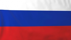 Flag of Russia waving in the wind, seemless loop animation Stock Footage