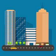 Business smart city life concept. Capital transportation Stock Illustration