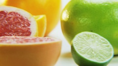 Citrus Fruits. Camera Moving From Right to Left Stock Footage