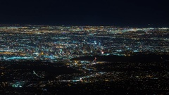 Downtown Los Angeles from Mount Wilson at Night Timelapse Stock Footage