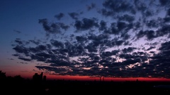 The birth of clouds - Timelapse Stock Footage