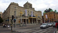 Dramatic Theatre in Stockholm. Sweden. 4K. Stock Footage