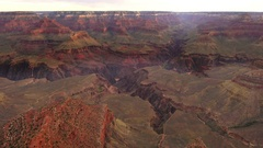 Grand Canyon Sunrise at South Rim Stock Footage