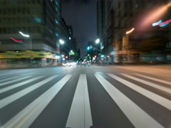 8K Drive Hyperlapse Full Frame Shot of Los Angeles Downtown Stock Footage
