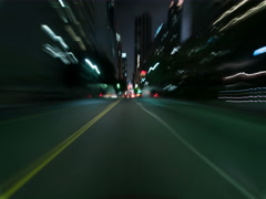 8K Drive Hyperlapse Full Frame Shot of Los Angeles Downtown at Night Stock Footage