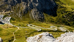 Pordoi Pass in the Alps, timelapse Stock Footage