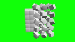 Cubes block. Assembling Big Data concept. Stock Footage
