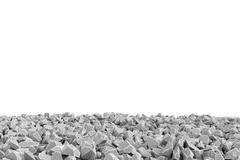 Rendering frame made of stones lying at the bottom on white background Stock Illustration