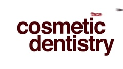 Cosmetic dentistry animated word cloud. Stock Footage