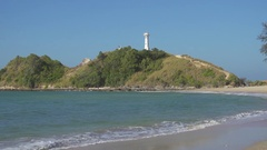Old lighthouse on Koh Lanta Yai island, Thailand Stock Footage