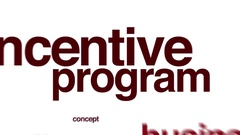 Incentive program animated word cloud. Stock Footage