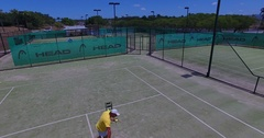 Forehand practice panning shot Stock Footage